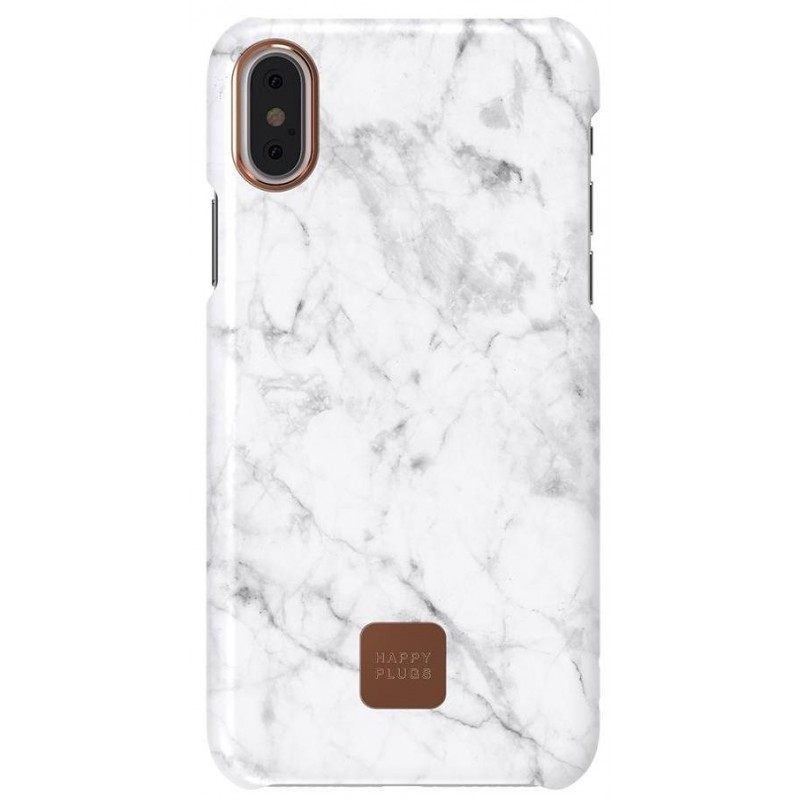 Защитный чехол Happy Plugs Slim Case для Apple iPhone X (White Marble)