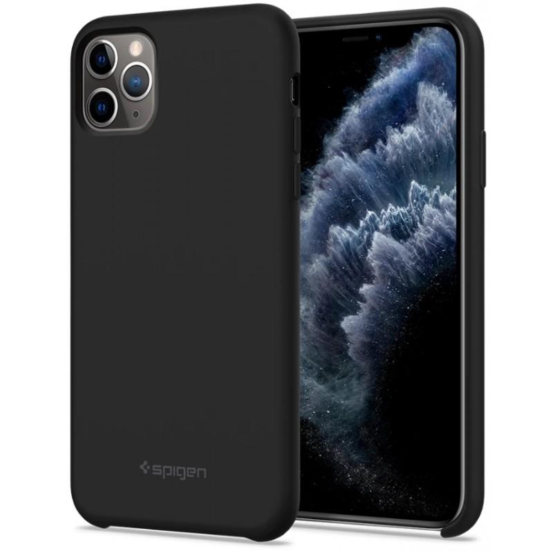 Чехол Spigen Silicone Fit (077CS27226) для iPhone 11 Pro (Black)