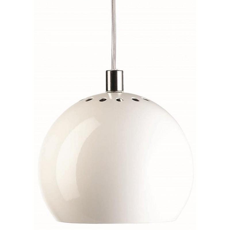 Лампа подвесная Ball, белая глянцевая