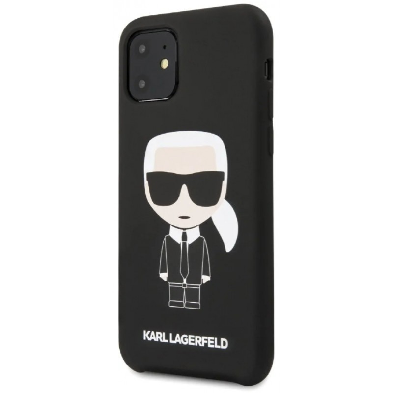 Чехол Karl Lagerfeld Liquid Iconic (KLHCN61SLFKBK) для iPhone 11 (Black)